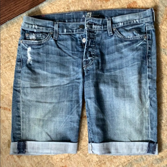 7 For All Mankind Pants - Seven for all Mankind denim shorts 27